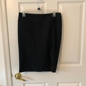 Express cheetah lined black pencil skirt size 0